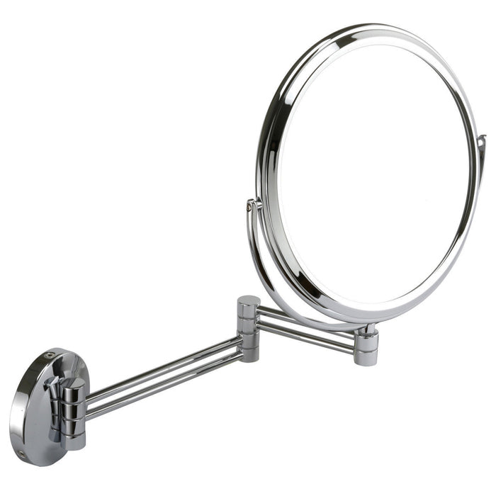 Round 20cm Wall Mounted Extending Bathroom Mirror 7x mag 708-20c
