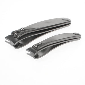 Dovo Luxury Men's Nail Clipper Set of 2 with Satin Finish