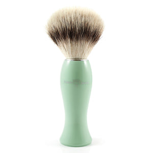 Wet Shaving for women. Edwin Jagger Shaving Brush in Light Blue