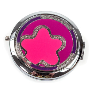 Mirror Compact with Inlaid Crystals MC821