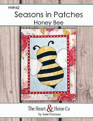 HNH42 Seasons In Patches - Honey Bee Paper Pattern