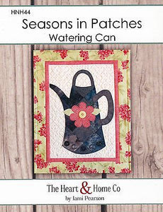 HNH44 Seasons In Patches - Watering Can Paper Pattern