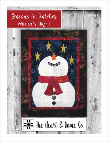 HNH38 Seasons In Patches Winter's Night Paper Pattern