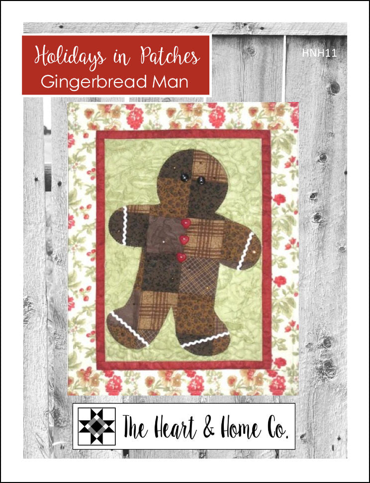 HNH11 Holidays in Patches Gingerbread Man PDF Pattern