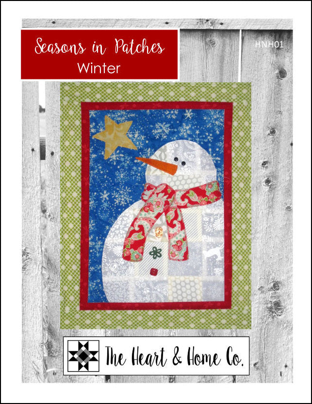 HNH01 Seasons In Patches  Winter Paper Pattern