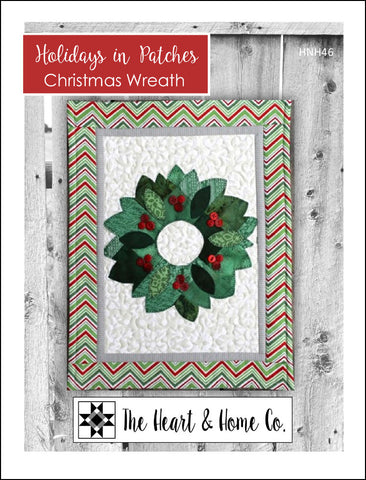 HNH46 Holidays in Patches Christmas Wreath Paper Pattern
