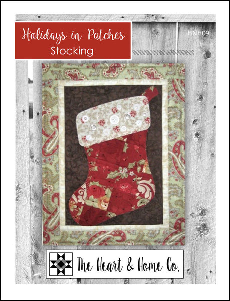 HNH09 Holidays in Patches Stocking PDF Pattern