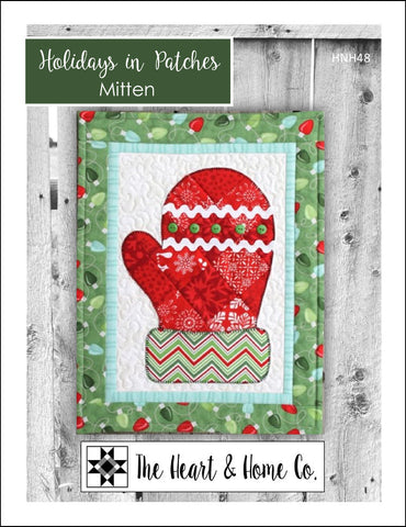 HNH48 Holidays in Patches Mitten Paper Pattern