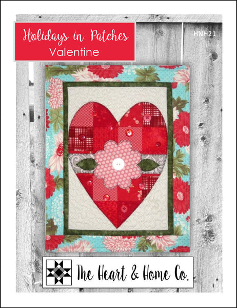 HNH21 Holidays In Patches Valentine PDF Pattern