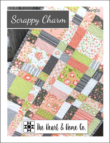 HNH205 Scrappy Charm Paper Pattern - Tablerunner Quilt Pattern
