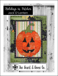 HNH13 Holidays In Patches Jack O'Lantern Paper Pattern