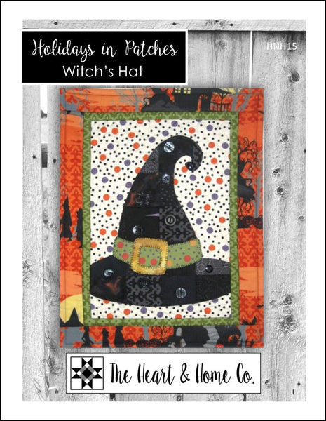 HNH15 Holidays In Patches Witches Hat PDF Pattern