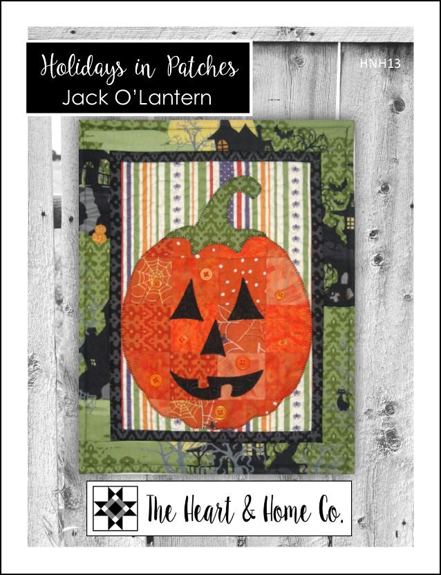 HNH13 Holidays In Patches Jack O'Lantern PDF Pattern