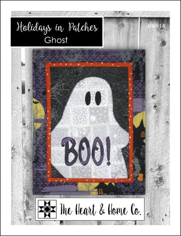 HNH14 Holidays In Patches Ghost  Paper Pattern