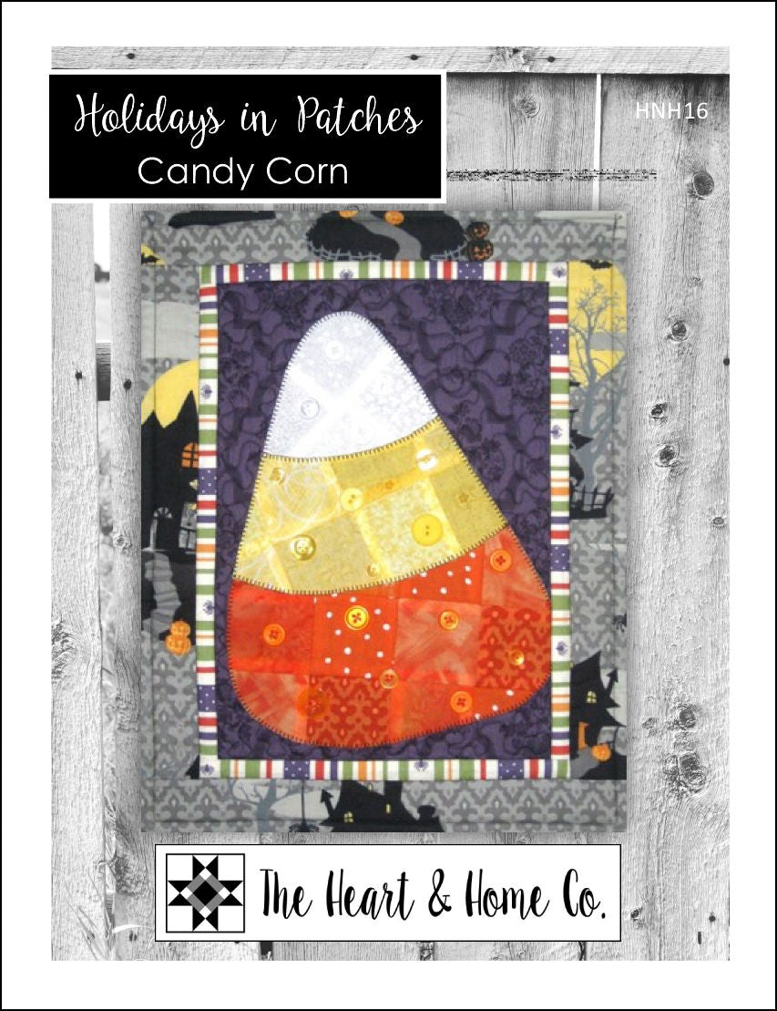 HNH16 Holidays In Patches Candy Corn Paper Pattern
