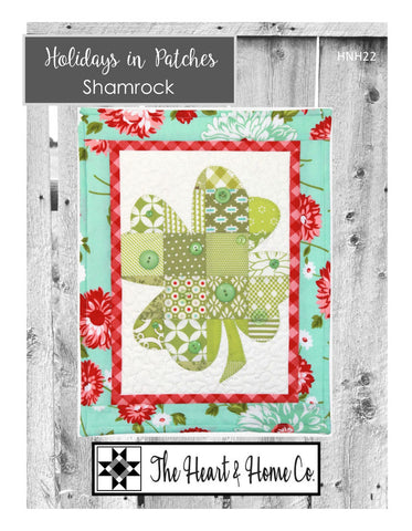 HNH22 Holidays In Patches Shamrock PDF Pattern