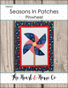HNH51 Seasons in Patches Pinwheel PDF Pattern