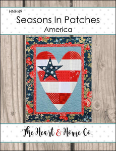 HNH49 Seasons in Patches America Paper Pattern