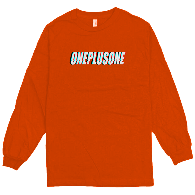Orange Glitch Longsleeve Tee