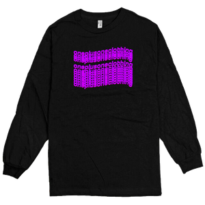 Black and Purple Waves Tee