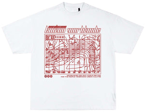 RED KNOWN WORLDWIDE TEE
