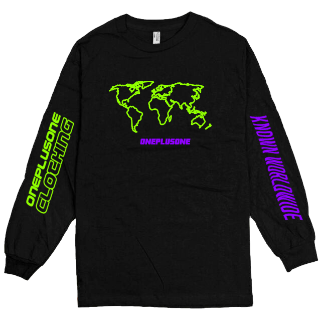 Global Longsleeve Tee - Neon