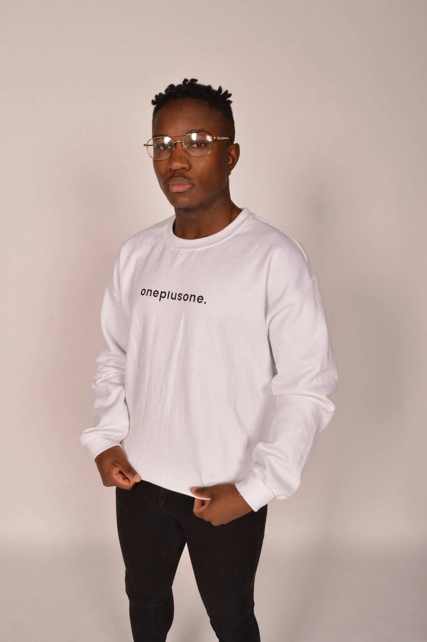 Iced Out White Unisex Sweatshirt