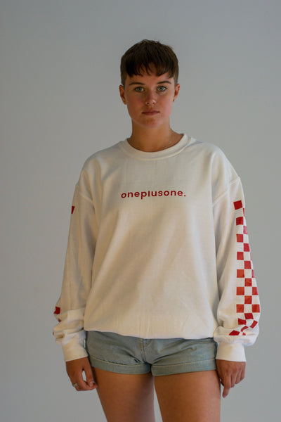 White Racertrack Sweatshirt