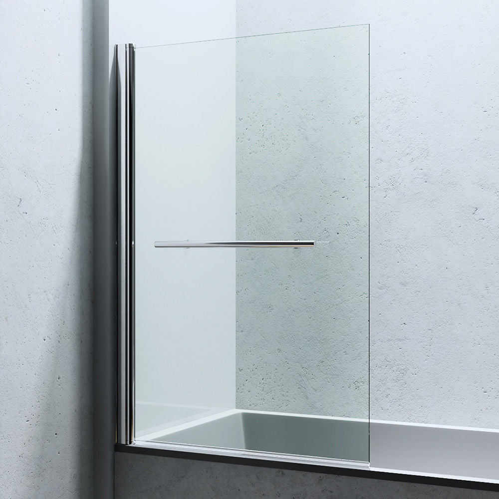 Cortona 1121 Glass Hinged Bath Screen (B07)