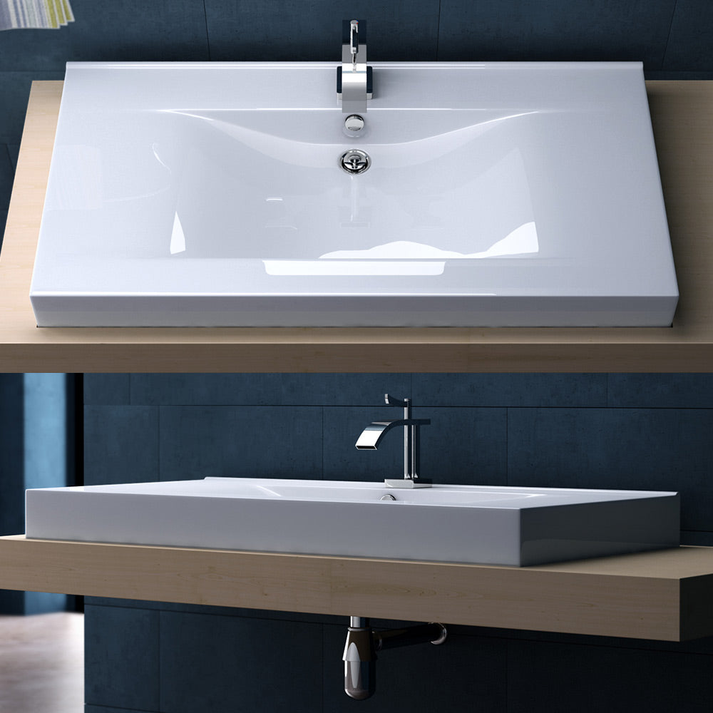 Bruessel 851 - Rectangle Ceramic Basin