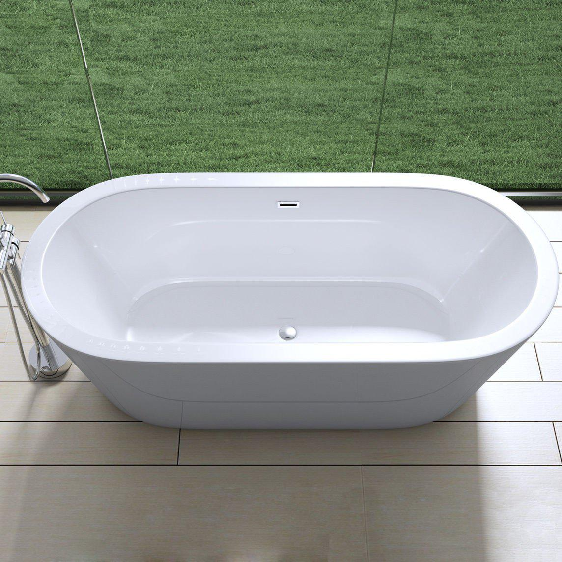 Vicenza 511 deep fill bath tub, glossy white finish