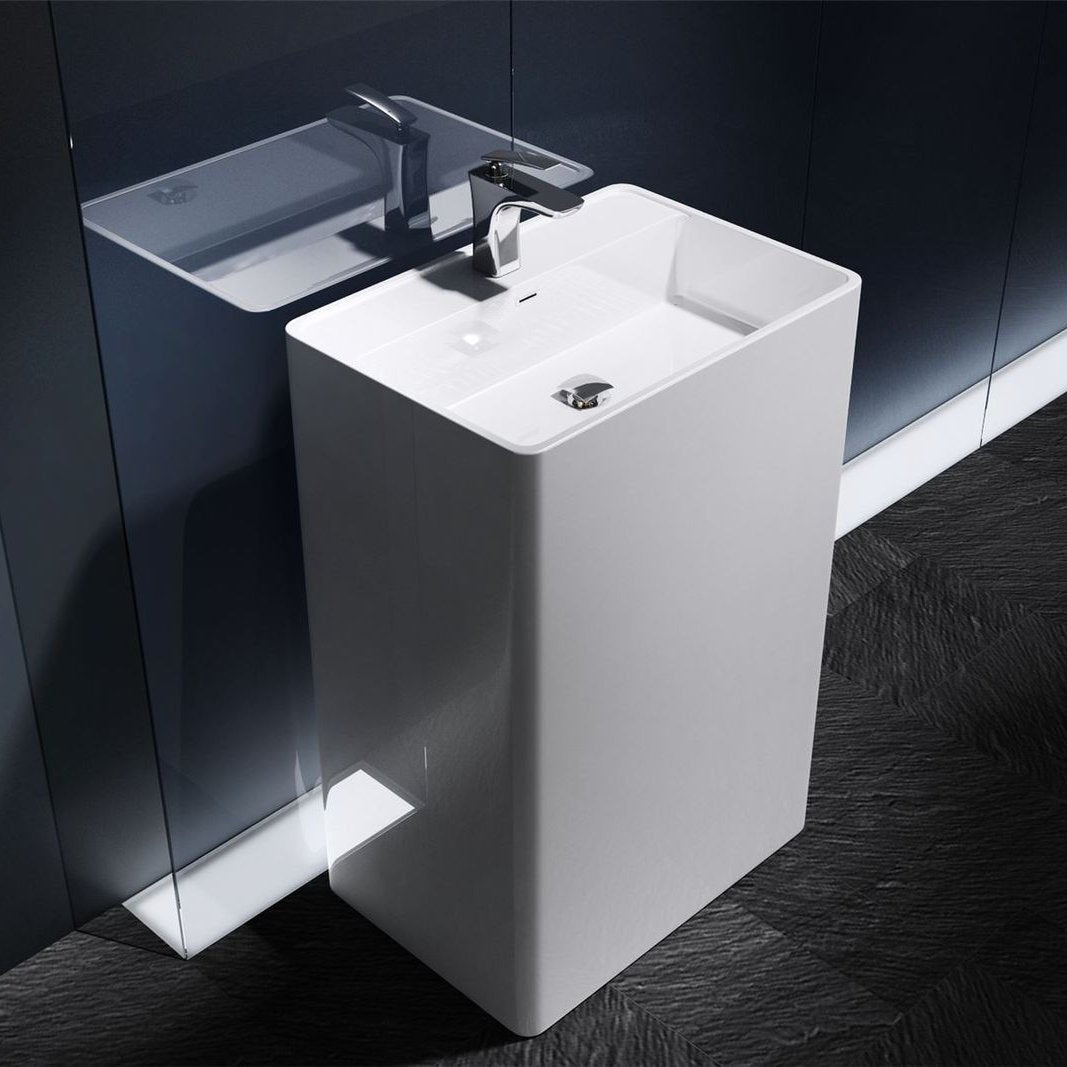 Colossum 34 rectangle pedestal basin