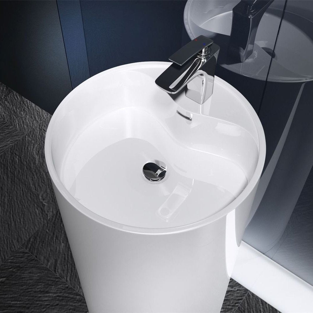 Colossum 35 Freestanding Basin top view