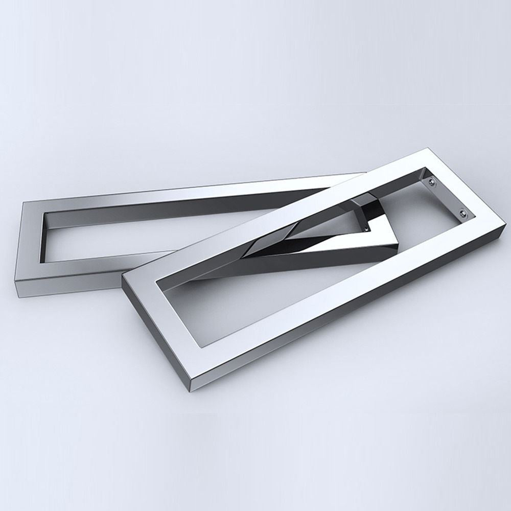 Chrome modern bathroom shelves sink basin