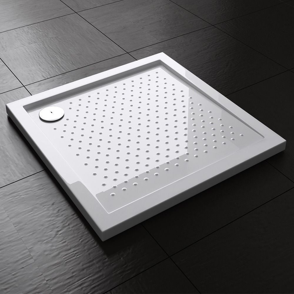 Non slip modern slimline shower tray base square