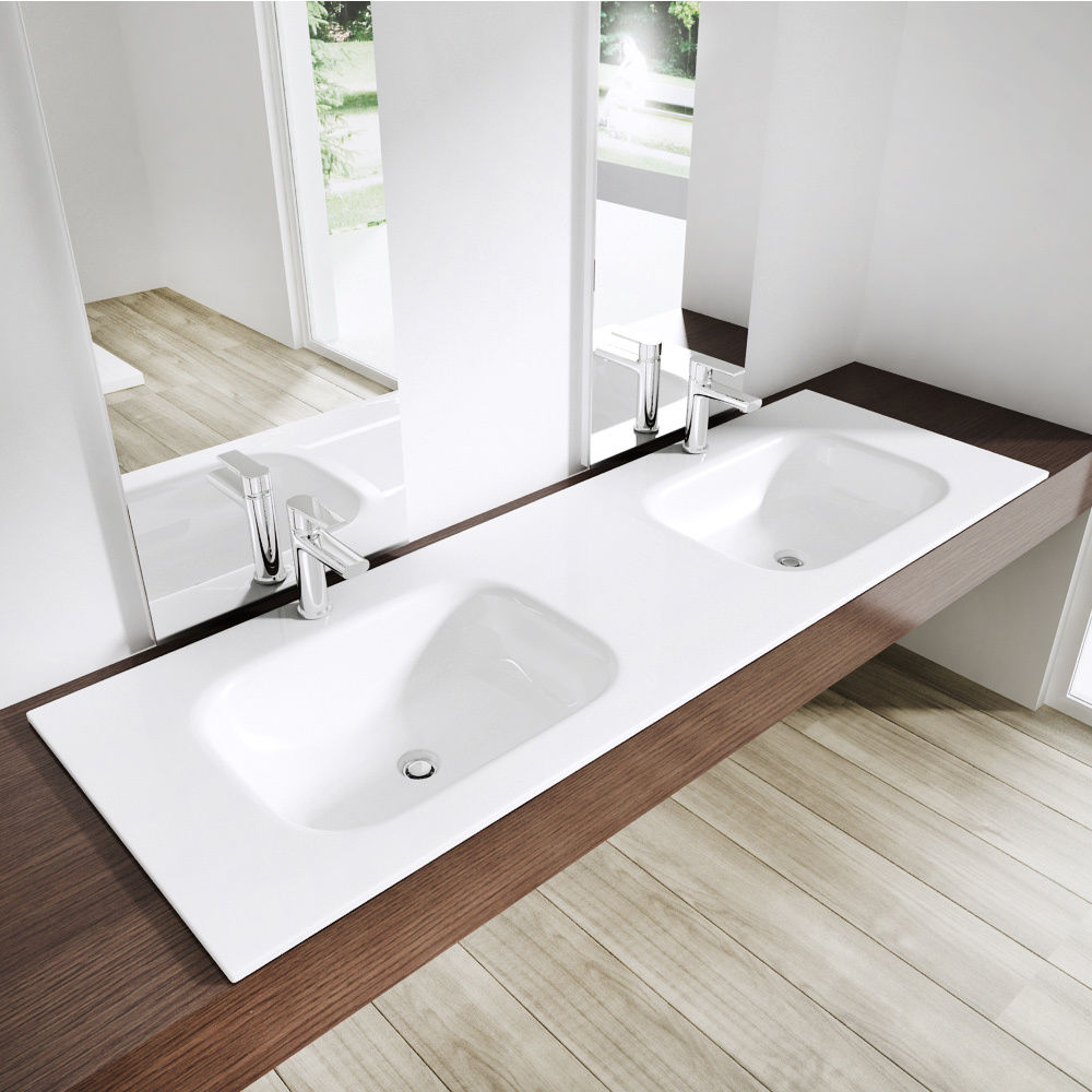 Durovin Bathrooms Colossum 04 Double Recessed Stone Basin