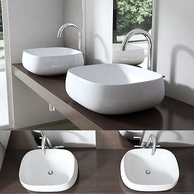 Bruessel 5105 oval curved, vessel tap design counter top mounted.
