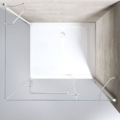 Glass shower enclosure modern L shaped
