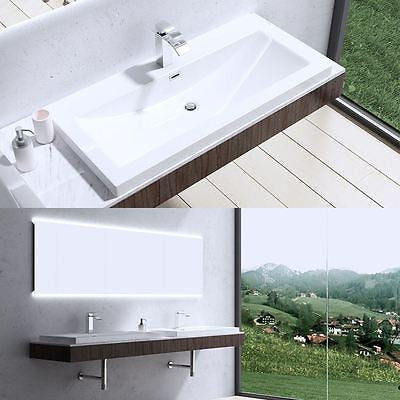 Colossum 01 765mm  semi-recessed basin sink