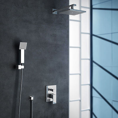 Square modern rainfall shower head
