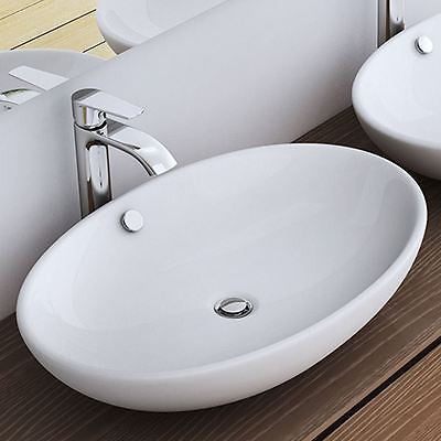 Counter Top Large Round Ceramic Basin 630 x 420mm | Bruessel 306