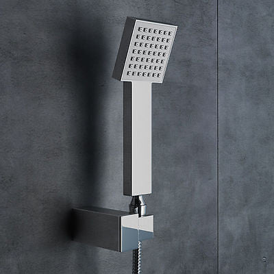 Chrome Finish Concealed Thermostatic Twin Square Head Shower Set UP03