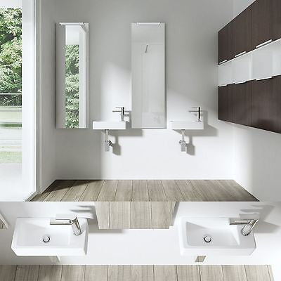 Compact left hand cloakroom basin by Durovin bathrooms