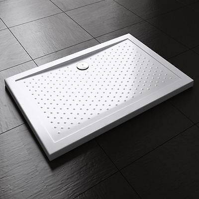 Non slip modern rectangle slimline shower tray base