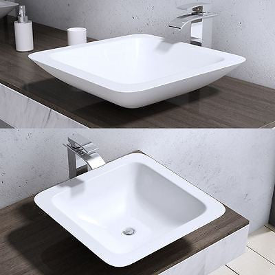 square curved modern wash basin