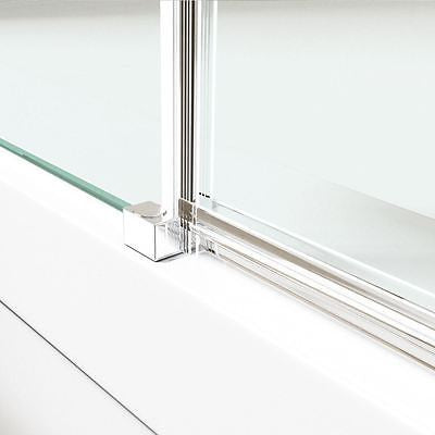 Ravenna 1 Hinged glass chrome effect fittings