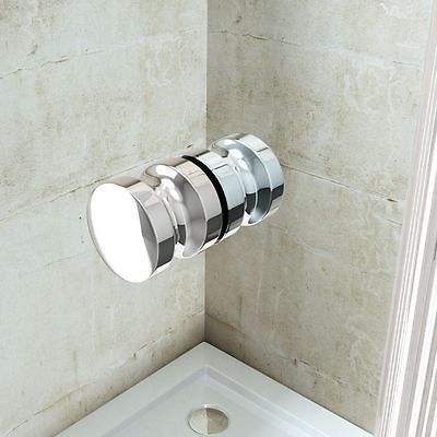 Ravenna 1 shower enclosure, chrome stainless steel handle.