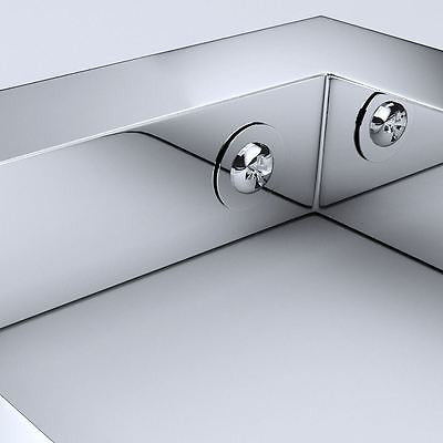 Durovin Stainless steel chrome brackets for basin shelf