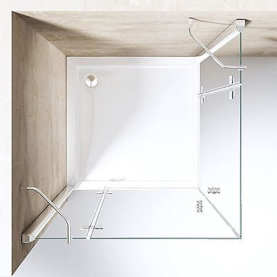 Ravenna 1 Hinged Shower Enclosure with tray, top view.