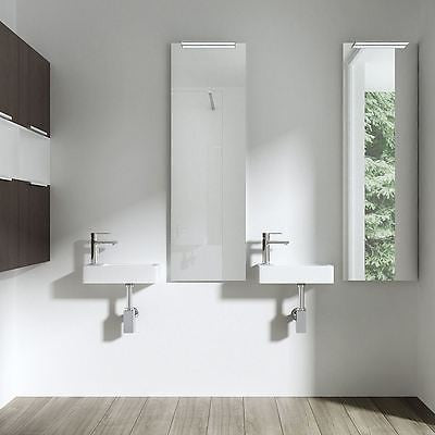 Compact right hand cloakroom basin by Durovin bathrooms